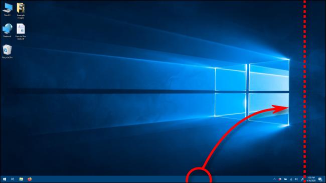 Mueva la barra de tareas a la orientación vertical arrastrándola en Windows 10