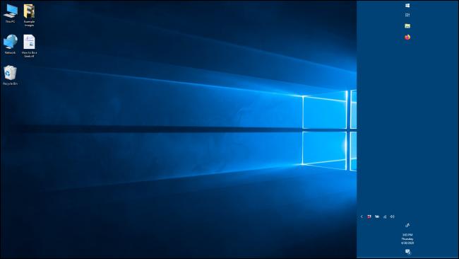 Una barra de tareas más grande en Windows 10