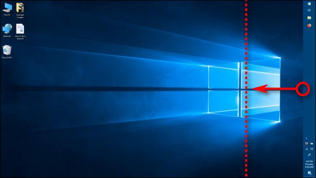 Cambiar el ancho de la barra de tareas en Windows 10