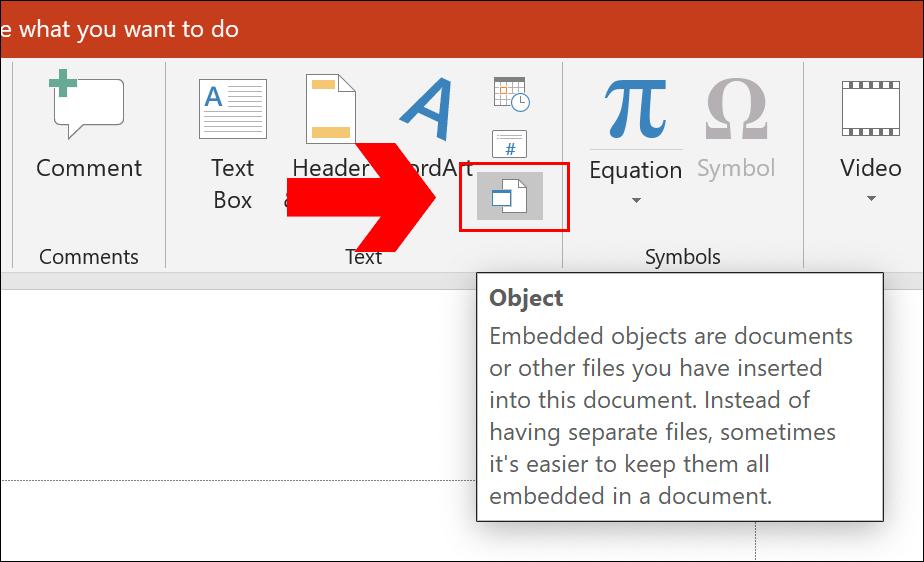 Para insertar un vínculo a un documento PDF en PowerPoint, haga clic en Insertar> Asunto» ancho =»924″ altura =»562″ onload =»pagespeed.lazyLoadImages.loadIfVisibleAndMaybeBeacon (esto);» onerror =»this.onerror = null; pagespeed.lazyLoadImages.loadIfVisibleAndMaybeBeacon (esto);»/></p> <p>En el menú de selección «Insertar objeto», Seleccione «Crear desde archivo», luego haga clic en «Recorrer» para seleccionar su documento PDF guardado.</p> <p><img loading=