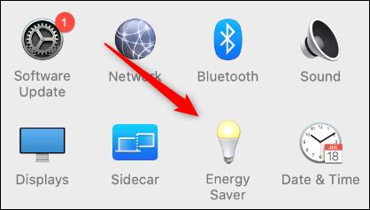 """Haga clic en """"Ahorro de energía."""""""