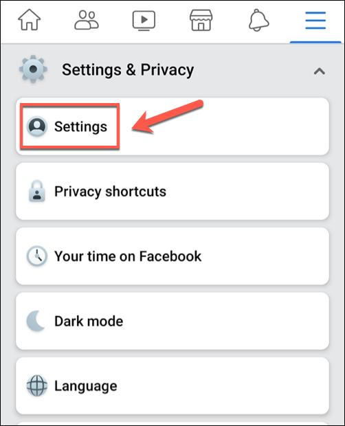En el menú de la aplicación de Facebook, toque Configuración y privacidad> Configuración.» ancho =»486″ altura =»600″ onload =»pagespeed.lazyLoadImages.loadIfVisibleAndMaybeBeacon (esto);» onerror =»this.onerror = null; pagespeed.lazyLoadImages.loadIfVisibleAndMaybeBeacon (esto);»/></p> <p>Para acceder a la configuración de sugerencias de Facebook, desplácese hacia abajo en el menú «configuraciones» y presiona la opción «Configuración de las notificaciones».</p> <p><img loading=