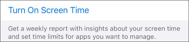 Habilitar el tiempo de pantalla en iOS