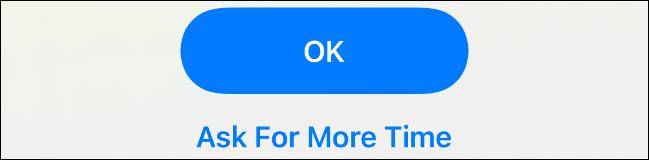 """presione el """"Pide mas tiempo"""" botón en iOS"""