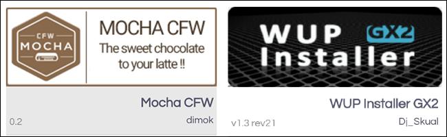 Tienda de aplicaciones Wii U Homebrew Mocha CFW