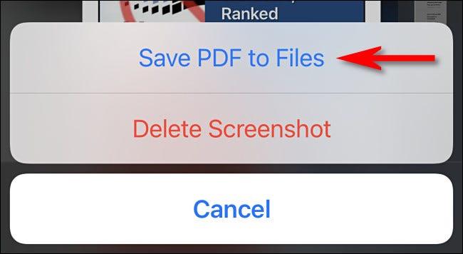 """Grifo """"Guarde el PDF en archivos."""""""