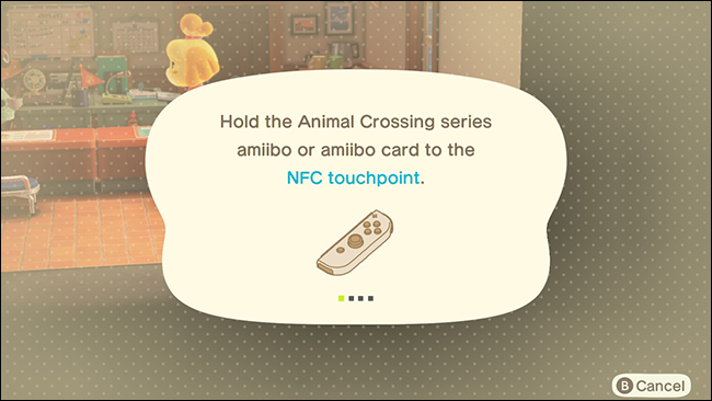 Punto de contacto NFC de la tarjeta Amiibo