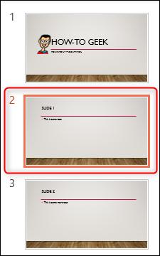 Seleccione la diapositiva para agregar notas en el panel