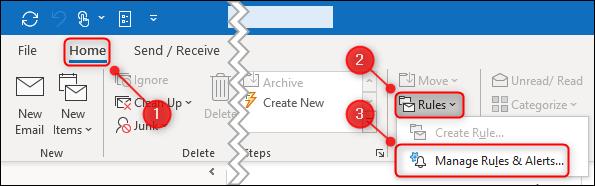 La opción Reglas> Administrar reglas y alertas.» ancho =»595″ altura =»186″ onload =»pagespeed.lazyLoadImages.loadIfVisibleAndMaybeBeacon (esto);» onerror =»this.onerror = null; pagespeed.lazyLoadImages.loadIfVisibleAndMaybeBeacon (esto);»/></p> <p>En el panel «Reglas y alertas», haga clic en «Nueva regla».</p> <p><img loading=