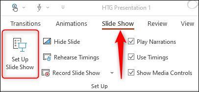 Configurar una presentación de diapositivas