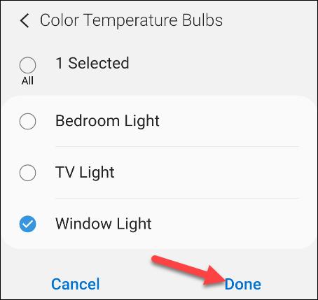 elige la luz a usar