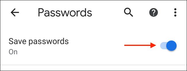 Toca para desactivar el guardado de contraseñas en Chrome para Android