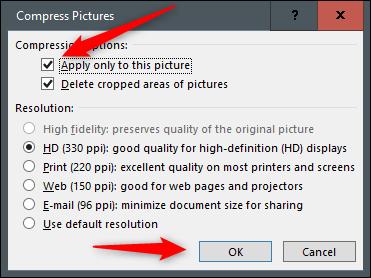 Aplicar compresión a la imagen