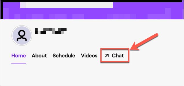 """Haga clic en """"Discutir"""" para acceder al chat de Twitch de su canal."""