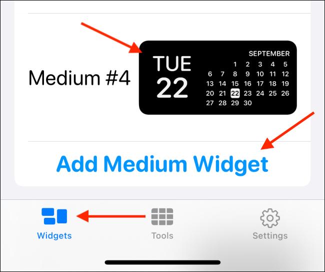 Crea un nuevo widget en Widgetsmith
