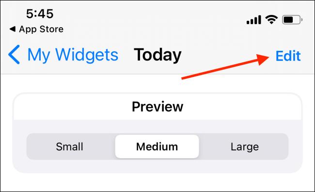 Presione el botón Editar del widget Widgeridoo