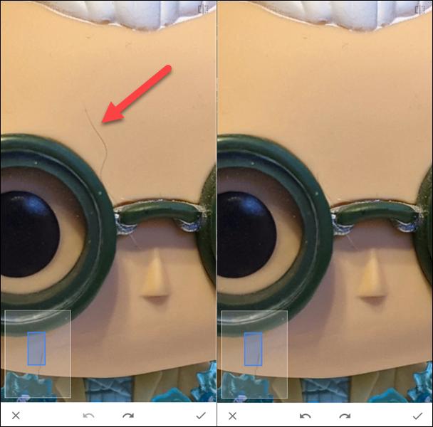 antes y después de la herramienta de curación
