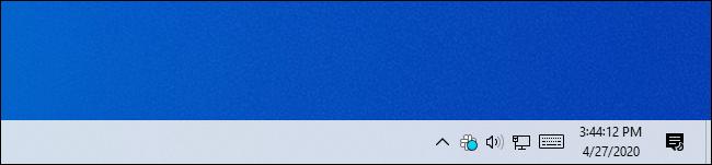 El reloj de la barra de tareas de Windows 10 muestra segundos