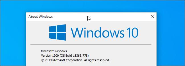 Haga clic en la barra de título de una ventana en Windows 10.