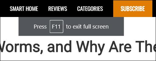 Presione F11 para salir del modo de pantalla completa