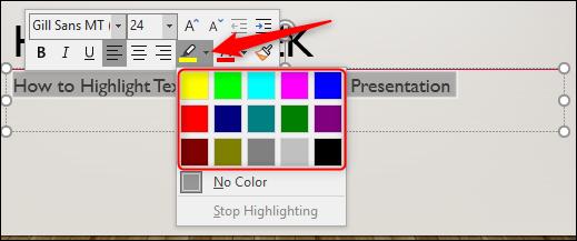 elige el color del resaltador