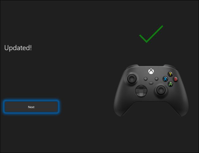 Haga clic en Siguiente para completar el proceso de actualización del software del controlador inalámbrico Xbox