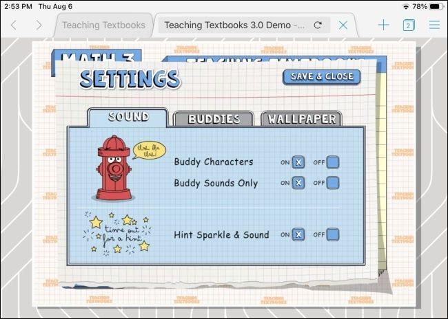 Una aplicación de Adobe Flash que se ejecuta a través de Puffin en un iPad
