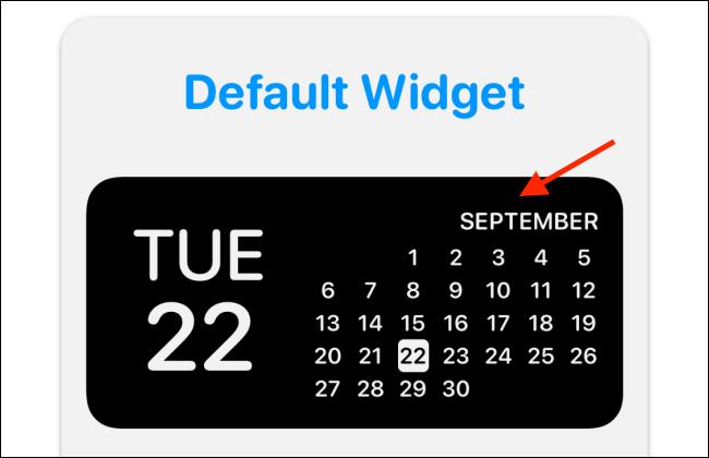 Toca la vista previa del widget