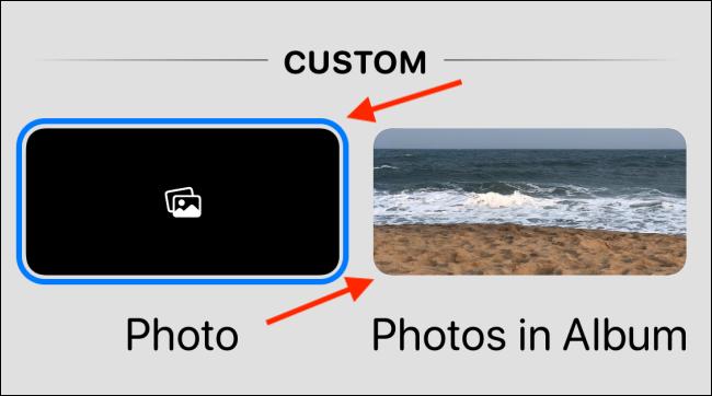 Elija la opción Foto o Fotos en el álbum