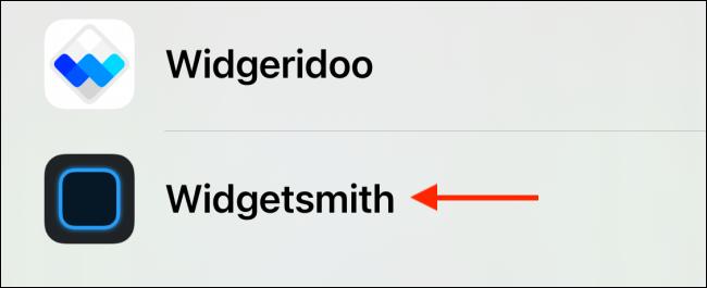 Seleccione Widgetsmith
