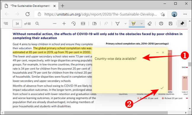 Agregar PDF Guardar comentario con Microsoft Edge