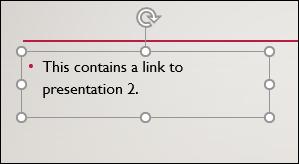 Un cuadro de texto seleccionado en PowerPoint.