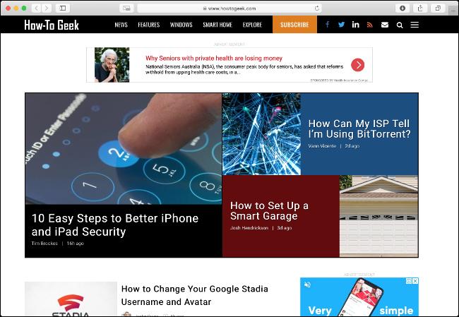 Navegue por la web con un navegador ligero como Safari