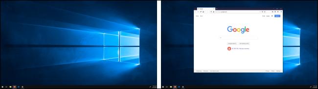 Ventana movida entre pantallas en Windows 10