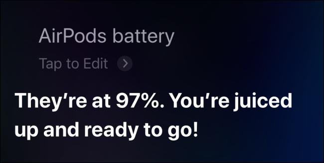 Use Siri para verificar la batería de AirPods en iPhone