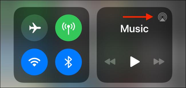 Presiona el botón AirPlay en el Centro de control