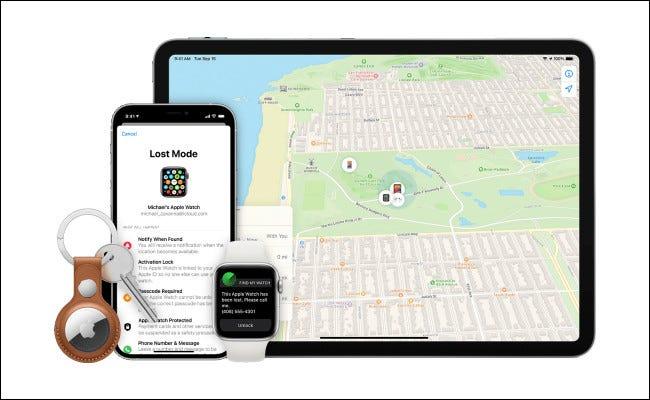 Ejemplos de dispositivos Apple perdidos.