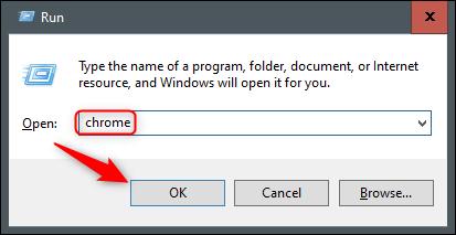 Abrir Chrome desde el tiempo de ejecución