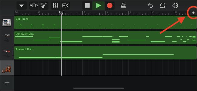 Controles de GarageBand para personalizar secciones de canciones