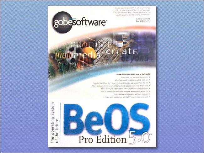 La caja de BeOS 5.0 Pro Edition.