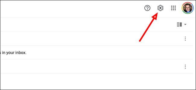 """Haga clic en """"configuraciones"""" en Gmail"""