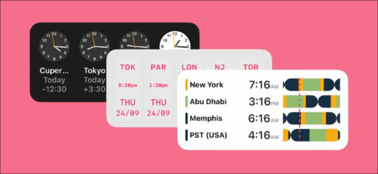 Cómo agregar widgets de reloj mundial y zona horaria a su iPhone