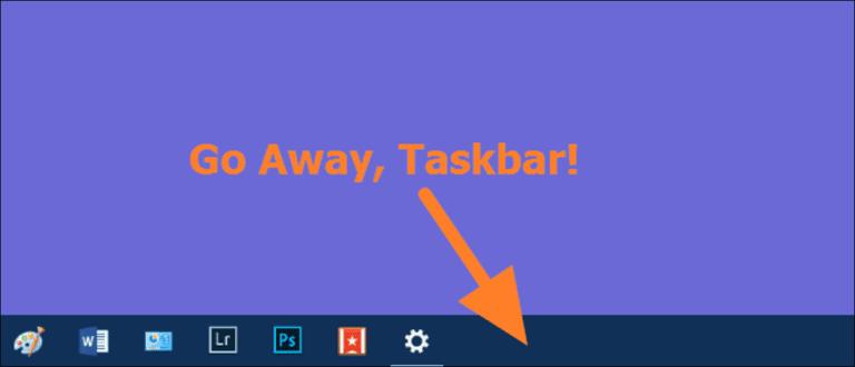 Cómo arreglar la barra de tareas de Windows cuando se niega a ocultarse automáticamente correctamente