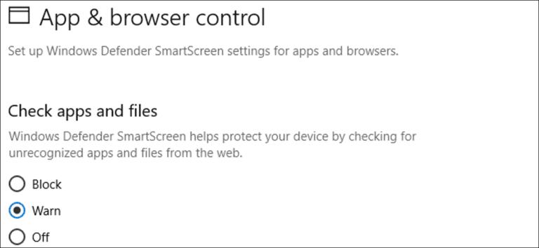 Cómo desactivar el filtro SmartScreen en Windows 8 o 10