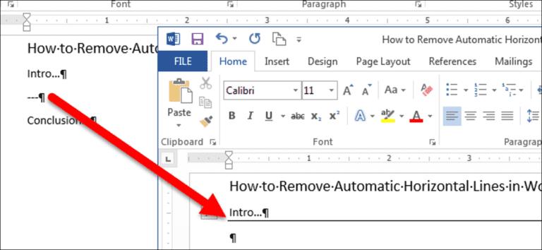 Cómo eliminar líneas horizontales automáticas en Word