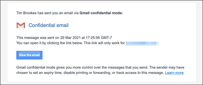 Nueva notificación por correo electrónico confidencial