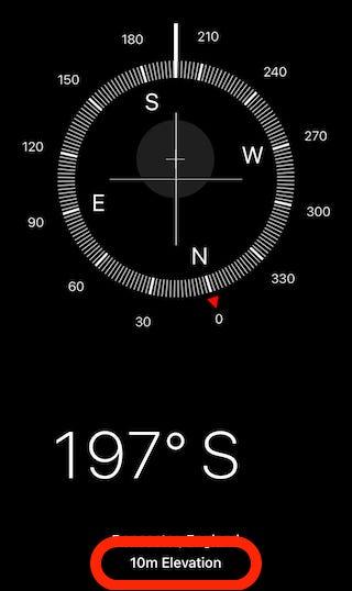 Abra la aplicación Compass