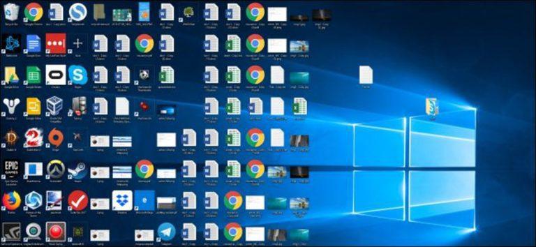 Cómo organizar su desordenado escritorio de Windows (y mantenerlo así)