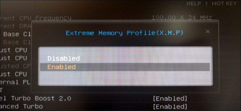 Cómo permitir que Intel XMP ejecute su RAM a las velocidades anunciadas