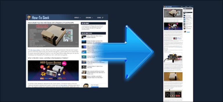 Cómo tomar una captura de pantalla de una página web completa